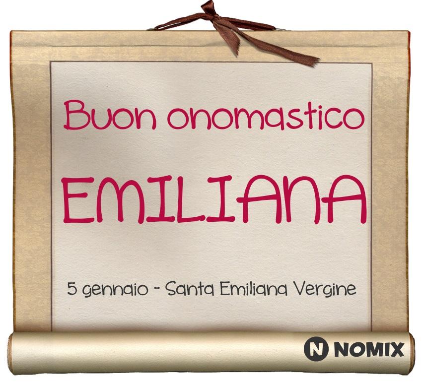 Onomastico del nome Emiliana