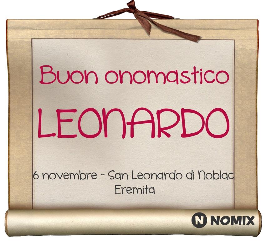 San Leonardo Calendario.Onomastico Del Nome Leonardo