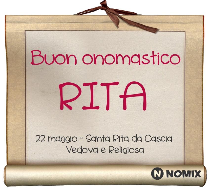 Santa Rita Giorno Calendario.Onomastico Del Nome Rita