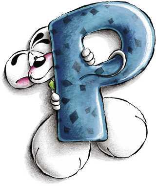 Diddl Alfabeto Lettera P